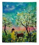 In The Orchard Fleece Blanket