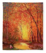 In The Presence Of Light Meditation Fleece Blanket