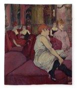 In The Salon At The Rue Des Moulins Fleece Blanket