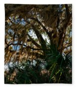 In The Shade Of A Florida Oak Fleece Blanket
