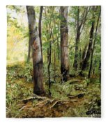 In The Shaded Forest  Fleece Blanket