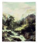 In The Teton Range Fleece Blanket