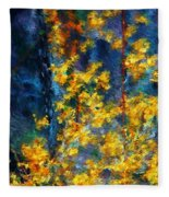 In The Woods Again Fleece Blanket
