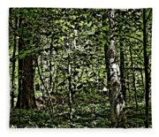 In The Woods Wc Fleece Blanket