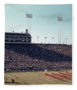 In This Vintage 1955 Photo The University Of Texas Longhorn Band Fleece Blanket