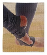 In Warm Up Tights Relaxed Position Fleece Blanket