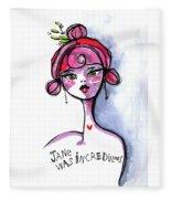 Incredulous Jane Fleece Blanket