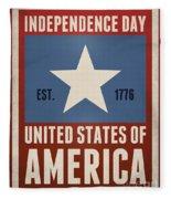 Independence Day Fleece Blanket