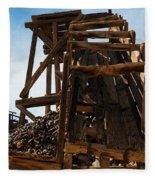 Independence Gold Mine Ruins Fleece Blanket