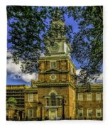 Independence Hall-philadelphia Fleece Blanket