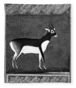 India: Black Buck Fleece Blanket