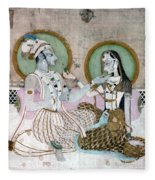 India: Couple Fleece Blanket
