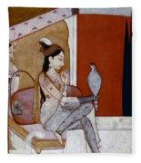 India: Lady & Hawk, C1570 Fleece Blanket