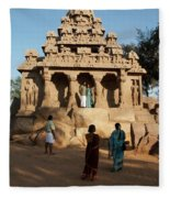 India Mahabalipuram  Fleece Blanket