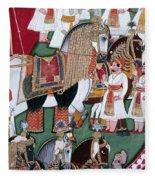 India: Military Festival Fleece Blanket
