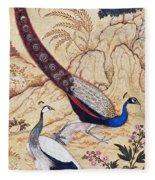 India: Peafowl, C1610 Fleece Blanket