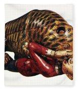 India: Tiger Attack Fleece Blanket