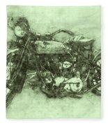Indian Chief 3 - 1922 - Vintage Motorcycle Poster - Automotive Art Fleece Blanket