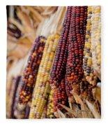Indian Corn 6 Fleece Blanket