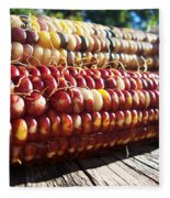 Indian Corn On The Cob Fleece Blanket