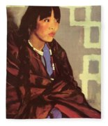 Indian Girl Of San Ildefonso 1917 Fleece Blanket