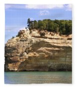 Indian Head Rock Fleece Blanket