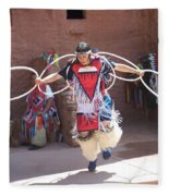 Indian Hoop Dancer Fleece Blanket