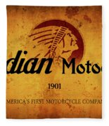 Indian Motocycle 1901 - America's First Motorcycle Company Fleece Blanket