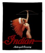 Indian Motorcycle Company Pinline Fleece Blanket