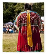 Indian Nation Pow Wow Dancers Fleece Blanket