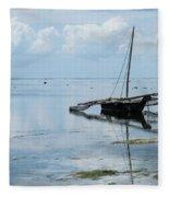 Indian Ocean At Lowtide Fleece Blanket