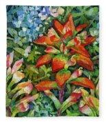 Indian Paintbrush Fleece Blanket