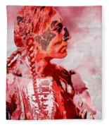 Indian Red Fleece Blanket