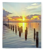 Indian River Sunrise Fleece Blanket