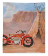 Indian Scout Fleece Blanket