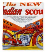 Indian Scout Fleece Blanket