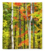Indian Summer Fleece Blanket