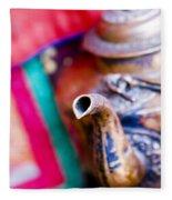 Indian Tea Kettle Fleece Blanket