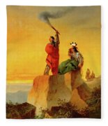 Indian Telegraph Fleece Blanket