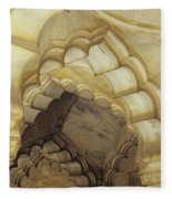 Indian Temple Arches Fleece Blanket