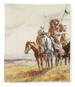 Indian War Party Fleece Blanket