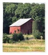 Indiana Barn Fleece Blanket