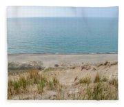 Indiana Dunes National Lakeshore Evening Fleece Blanket