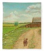 Indiana Farm Fleece Blanket