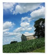 Indiana Farm Scene Fleece Blanket