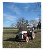 Indiana Hwy 63 South Vintage Ford Tractor Color Version Fleece Blanket
