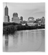 Indianapolis Charcoal Panoramic Fleece Blanket