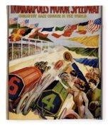 Indianapolis Motor Speedway Vintage Poster 1909 Fleece Blanket
