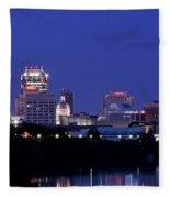 Indianapolis Panorama Fleece Blanket