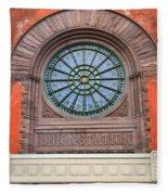 Indianapolis Union Station Building Fleece Blanket